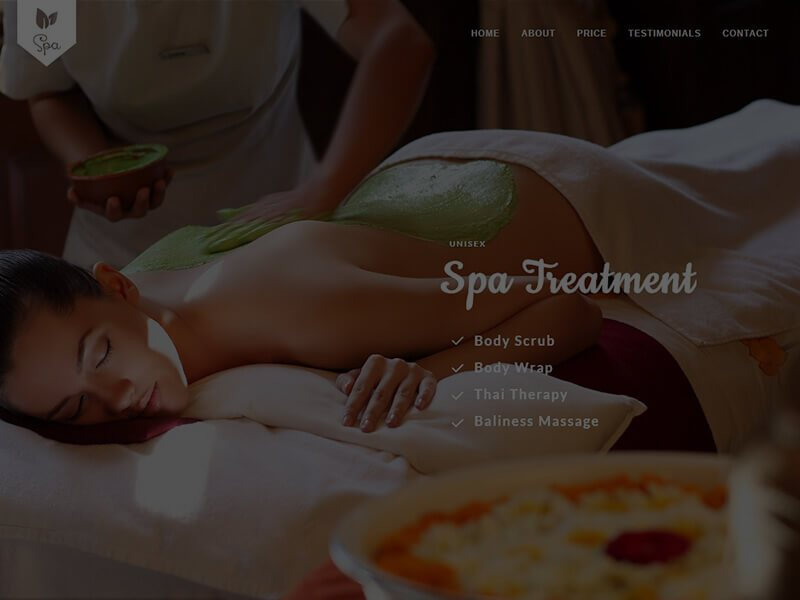 Spa website example